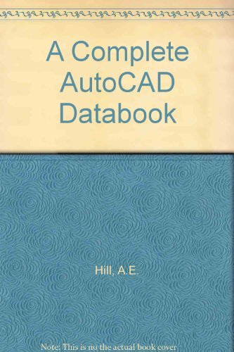 9780130540249: A Complete Autocad Databook