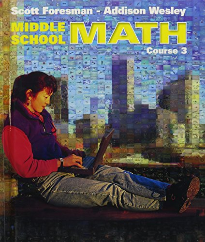 9780130542120: MIDDLE SCHOOL MATH 3E STUDENT EDITION AND PRACTICE WORKBOOK COURSE 3    2002C
