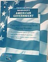 9780130542144: Magruders American Government Program Overview with Pacing Guides