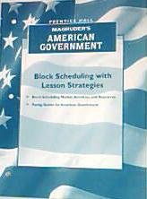 9780130542168: Magruders American Government Block Scheduling with Lesson Strategies