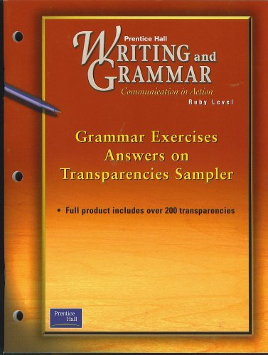 SAMPLER of Grammar Exercises Answers on Transparencies,: Prentice Hall