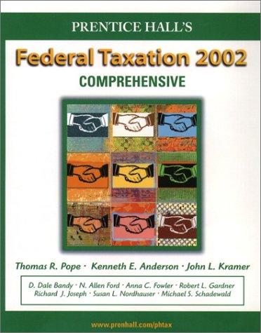 9780130550606: Prentice Hall's Federal Taxation 2002: Comprehensive