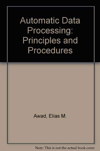 9780130551603: Automatic Data Processing: Principles and Procedures