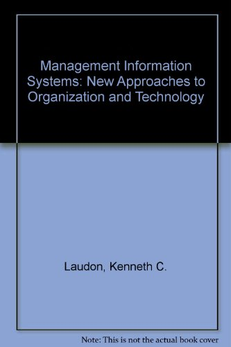 9780130551979: Management Information Systems: New Approaches to Organization and Technology