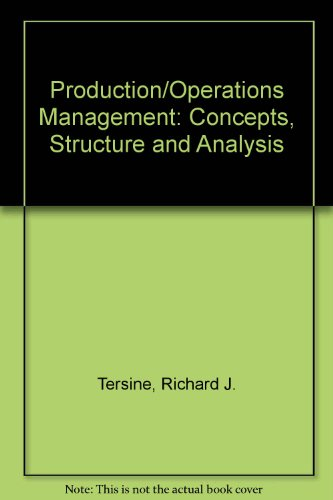 9780130554017: Production/Operations Management: Concepts, Structure and Analysis