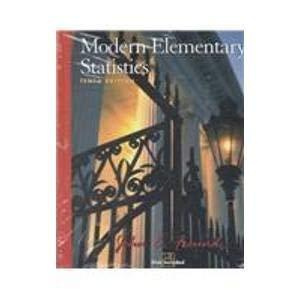9780130559449: Modern Elementary Statistics