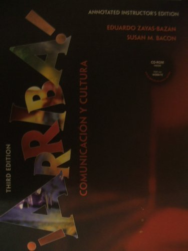 9780130560643: Arriba! Comunicacion Y Cultura (Annotated Instructor's Edition)