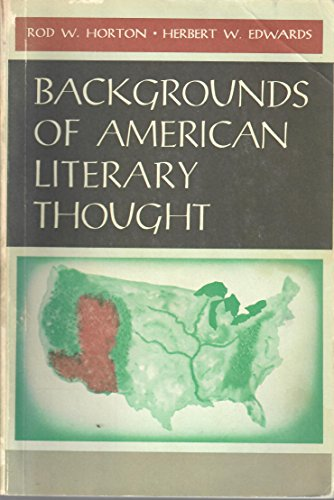 9780130562913: Backgrounds of American Literary Thought