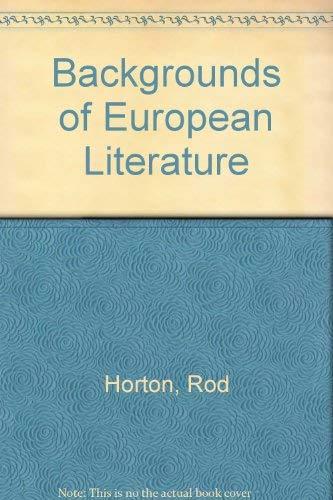9780130563170: Backgrounds of European Literature