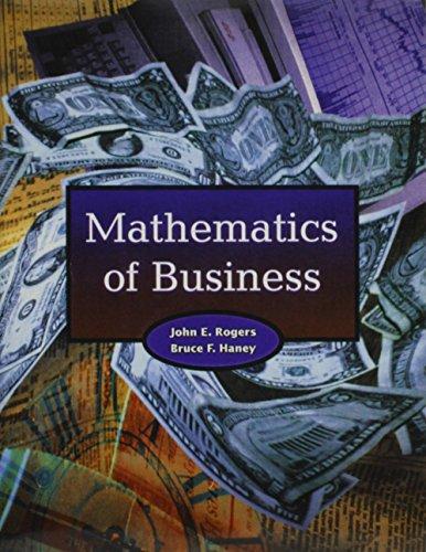9780130563385: Supplement: Mathematics of Business & Study Wizard CD-ROM Pkg. - Mathematics of Business 1/E