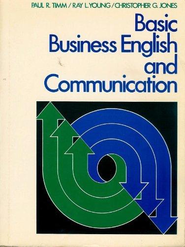 Basic Business English and Communication: Timm, Paul R.