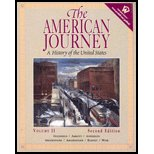 9780130576712: American Journey : A History of the United States Volume II - Textbook Only