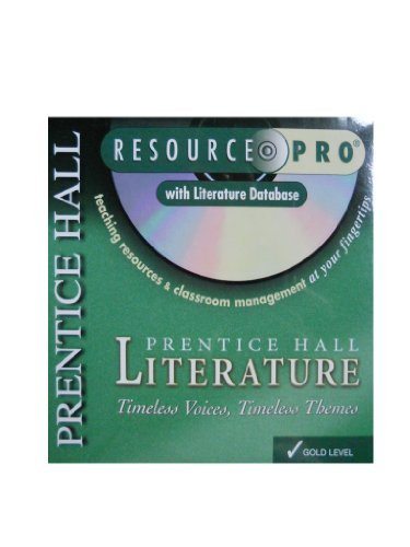 9780130583208: Literature Gold Resource Pro CD-ROM (Timeless Voices, Timeless Themes)