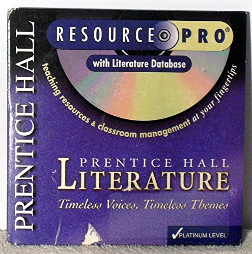 9780130583215: Literature Platinum Level Resource Pro CD-ROM (Timeless Voices, Timeless Themes)