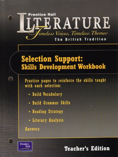 9780130583581: Teacher's Edition - Selection Support: Skills Development Workbook - The British Tradition (Prentice