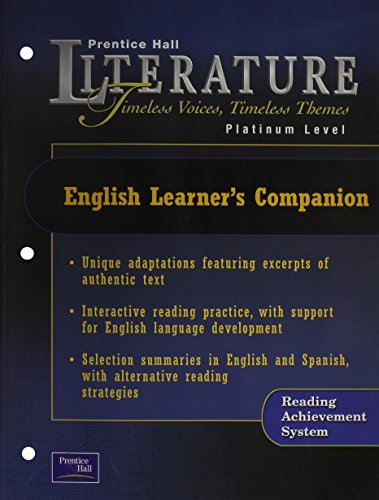 9780130583642: PRENTICE HALL LITERATURE:TIMELESS VOICES TIMELESS THEMES 7 EDITION      ENGLISH LEARNER'S COMPANION GRADE 10 2002C