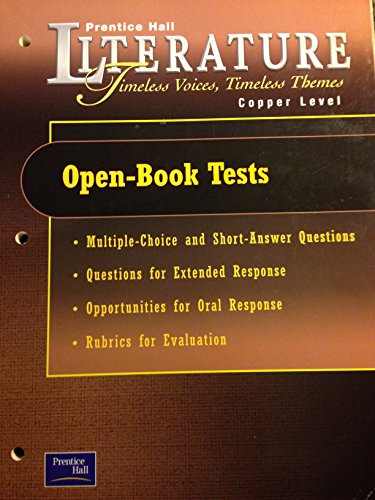 9780130583901: Open Book Tests (Prentice Hall Literature Timeless Voices, Timeless Themes, Copper Level)