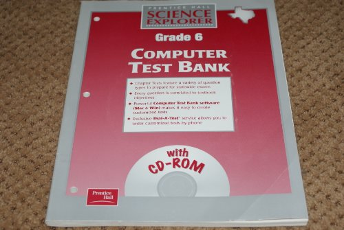 9780130586797: Science Explorer Grade 6 Computer Test Bank with Cd-rom (Texas)