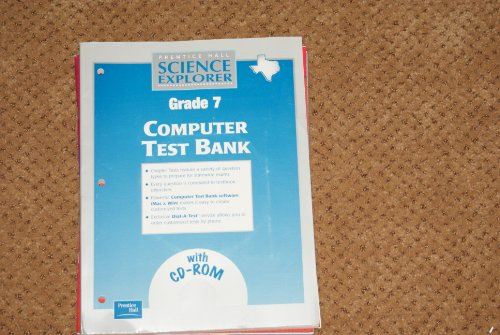 9780130586803: Science Explorer Grade 7 Computer Test Bank (Texas) with Cd-rom