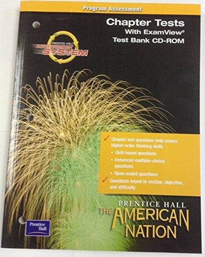 9780130588296: THE AMERICAN NATION 9TH EDITION SURVEY EXAM VIEW TEST BANK CD ROM 2003C