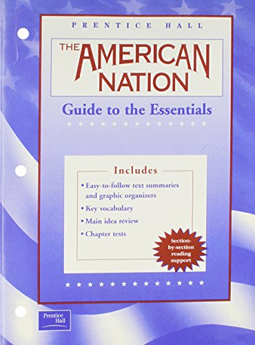 9780130588418: THE AMERICAN NATION 9TH EDITION ENGLISH GUIDE TO THE ESSENTIALS 2003C
