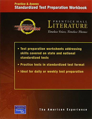 9780130589644: PRENTICE HALL LITERATURE TIMELESS VOICES TIMELESS THEMES 7TH EDITION TEST PREPARATION WORKBOOK GRADE 11 2002C