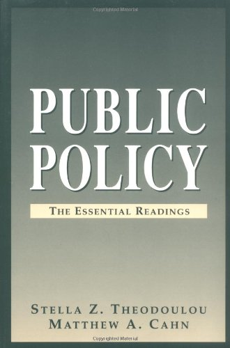 9780130592552: Public Policy: The Essential Readings
