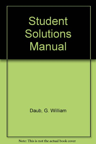 9780130593870: Student Solutions Manual