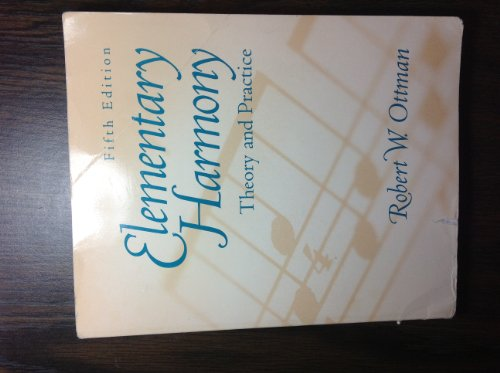 9780130594655: Elementary Harmony: Theory and Workbook