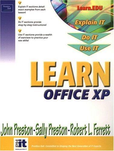 Learn Office XP Brief (013060061X) by John Preston; Sally Preston; Robert Ferrett