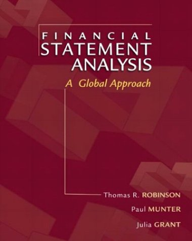 9780130601216: Financial Statement Analysis: A Global Perspective