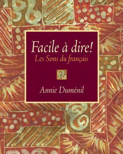 9780130601414: Facile à dire! Les Sons du français