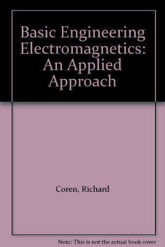 9780130603692: Basic Engineering Electromagnetics: An Applied Approach