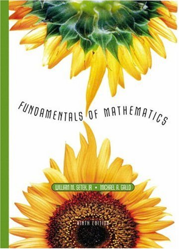 9780130606105: Fundamentals of Mathematics (9th Edition)