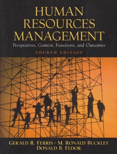 9780130608543: Human Resources Management: Perspectives, Context, Functions, and Outcomes