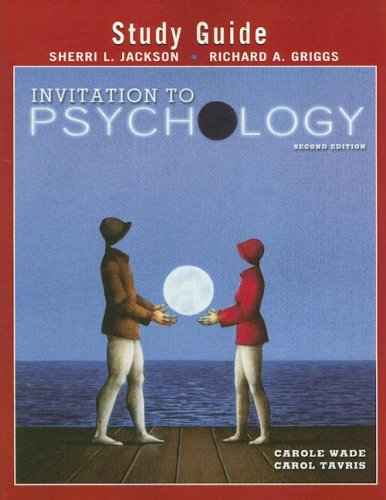 9780130608710: Invitation to Psychology: Study Guide, 2nd Edition