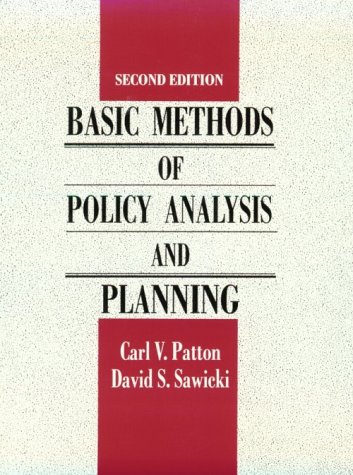 9780130609489: Basic Methods of Policy Analysis and Planning
