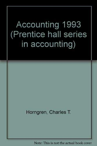 9780130613349: Accounting 1993 (Prentice Hall Series in Accounting)