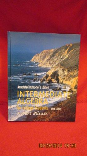 9780130614520: Intermediate Algebra for College Students