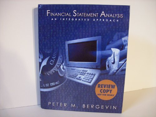 9780130616333: Financial Statement Analysis: An Integrated Approach