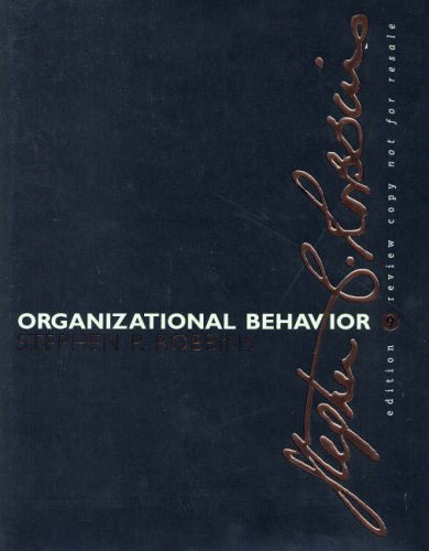 9780130617217: Organizational Behavior-E-Business Updated Edition: International Edition