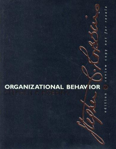 9780130617217: Organizational Behavior-E-Business Updated Edition: International Edition
