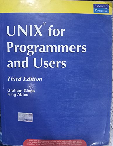 9780130617712: UNIX for Programmers and Users