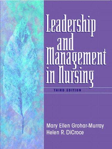9780130617774: Leadership and Management in Nursing