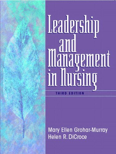 9780130617774: Leadership and Management in Nursing