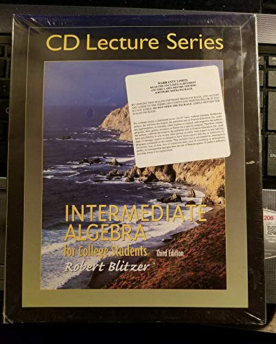 9780130619327: Intermediate Algebra for College Students CD Lecture Series