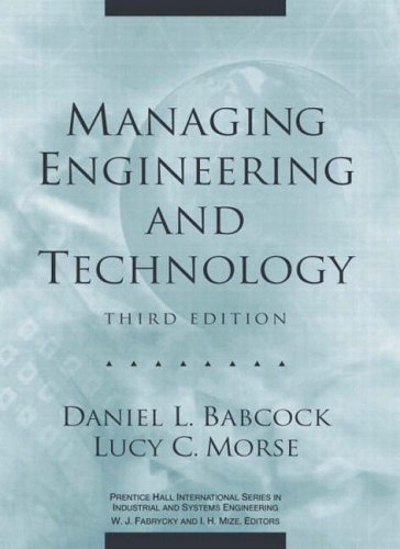 9780130619785: Managing Engineering and Technology (Prentice Hall international series in industrial & systems engineering)