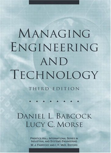 9780130619785: Managing Engineering and Technology (3rd Edition)