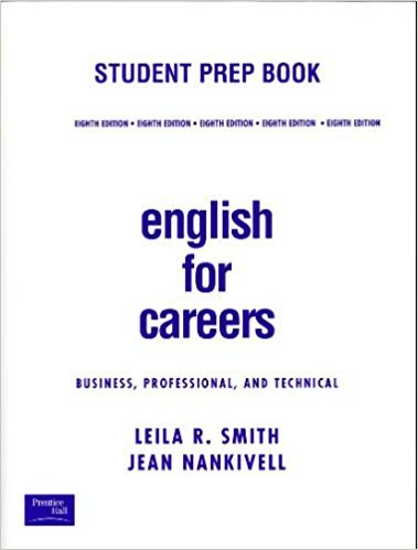 9780130619839: English For Careers: Student Prep Book, Eighth Edition