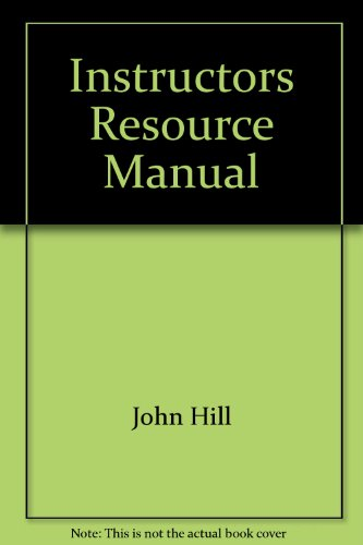 9780130619983: Instructors Resource Manual